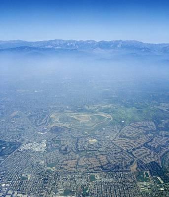 Air Pollution Over Los Angeles Art Print by Detlev Van Ravenswaay