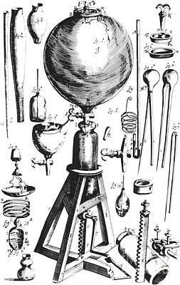 Air Pump, Designed By Boyle, Built Print by Science Source