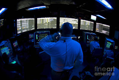 Control Center Photograph - Air Traffic Controller Watches by Stocktrek Images