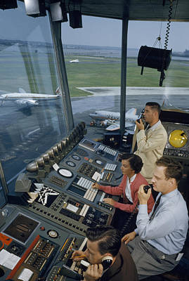 Air Traffic Controllers Direct Traffic Art Print by David Boyer