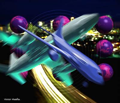 Air Travel Art Print