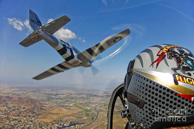 Photograph - Airborne With The Horsemen Aerobatic by Scott Germain