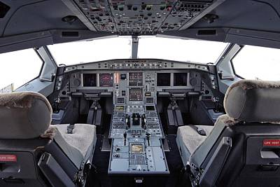 Cockpit Photograph - Airbus A330 Cockpit by Ria Novosti