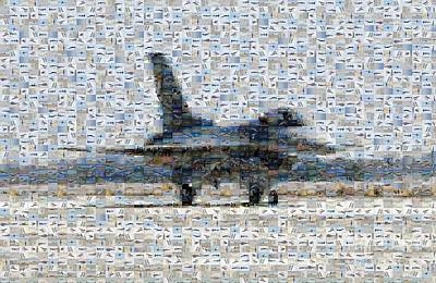 Airforce F-4866 Mosaic  Art Print by Darleen Stry