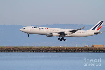 Airfrance Airlines Jet Airplane At San Francisco International Airport Sfo . 7d12223 Print by Wingsdomain Art and Photography