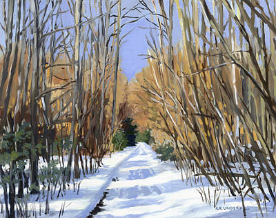 Painting - Airline Trail In Winter by Alecia Underhill