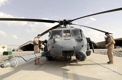 Airmen Conduct A Routine Preflight Art Print