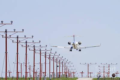 Airplane Landing Art Print by Jeremy Woodhouse