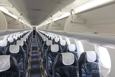 Airline Industry Photograph - Airplane Seating by Jaak Nilson