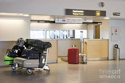 Tallinn Airport Photograph - Airport Baggage Area by Jaak Nilson