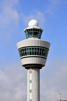 Airport Control Tower. Art Print by Fernando Barozza