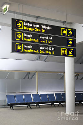 Airport Directional Signs Art Print