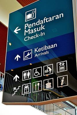 Photograph - Airport Sign by Ku Azhar Ku Saud
