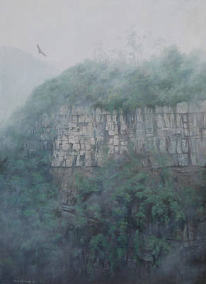 Condor Painting - Airs Of My Country With Condor by Ricardo Morales-Hendry