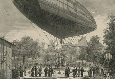 Observer Photograph - Airship Powered By An Electric Motor by Everett