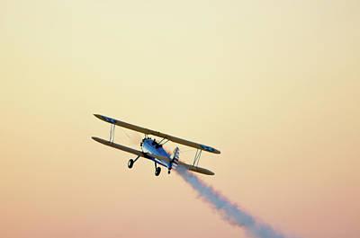 Pensacola Photograph - Airshow Smoke Trail At Sunset by Jim McKinley