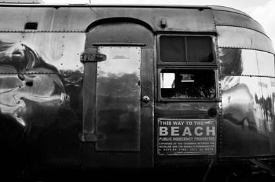 Airstream Trailer Photograph - Airstream At The Beach by David Lee Thompson