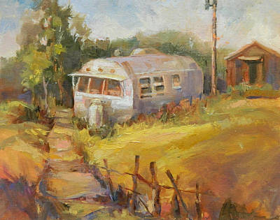 Painting - Airstream Nostalgia by Marty Husted