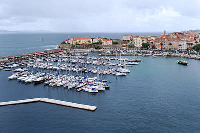Photograph - Ajaccio Harbour. by Terence Davis