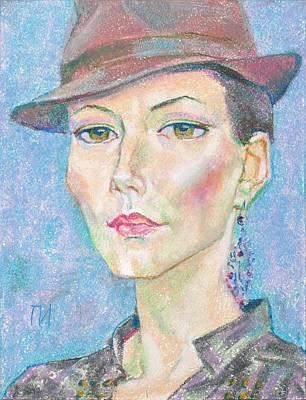 Portrait Painting - Aksinya Vlasenko by Leonid Petrushin