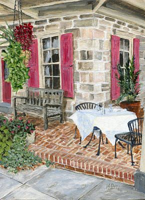 Al Fresco At The Carversville Inn Art Print