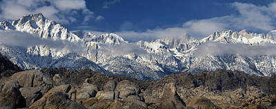 Photograph - Alabama Hills-mt Whitney- Winter by Joe  Palermo
