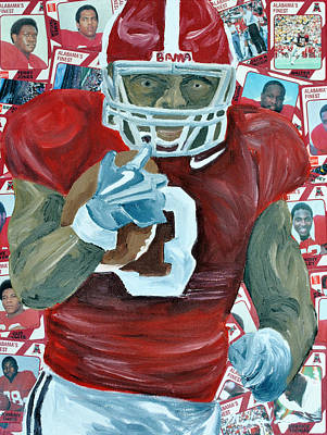 Alabama Running Back Art Print by Michael Lee