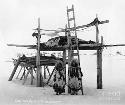Photograph - Alaska: Eskimo Storage by Granger