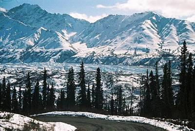 Alaska Icefield Art Print