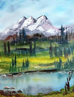 Sitka Painting - Alaska Mountains by Larry Hamilton