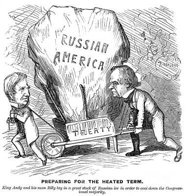 Block Party Photograph - Alaska Purchase Cartoon by Granger