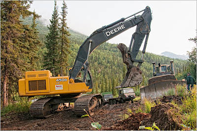 Photograph - Alaska Road Building by Gary Rose