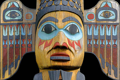 Alaska Totem Art Print by Mark Greenberg