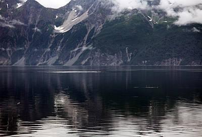 Alaskan Mountain Scene Whales Art Print