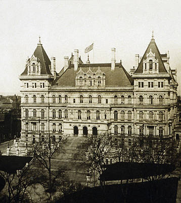 Albany New York - State Capitol Building - C 1900 Art Print by International  Images