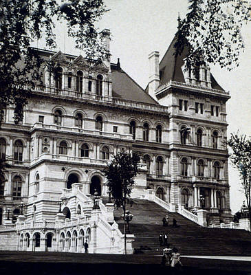 Albany New York - State Capitol Building - C 1903 Art Print by International  Images
