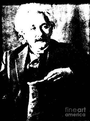 Platinum Photograph - Albert Einstein 1931 Litho by Padre Art
