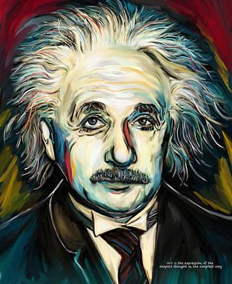 Relativity Painting - Albert Einstein by Amarok A