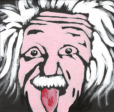 Theory Painting - Albert Einstein by Jera Sky