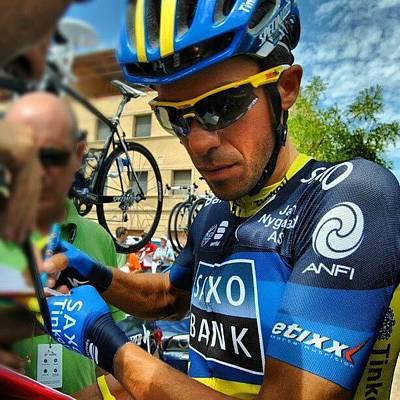 Cycling Photograph - #alberto #contador #cycling by Jorge Vargas