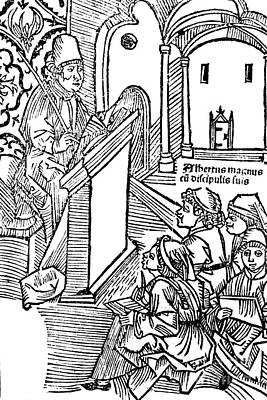 Albertus Magnus, Medieval Philosopher Art Print by Science Source
