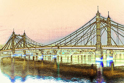 Albet Bridge London Art Print