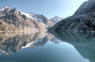 Graubunden Photograph - Albigna Lake by by Thomas Gasienica