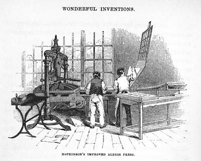 Albion Printing Press Art Print by Science, Industry & Business Librarynew York Public Library