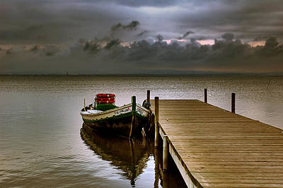 Albufera Before The Rain. Valencia. Spain Art Print