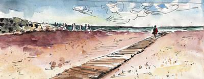 Sand Dunes Drawing - Albufera De Valencia 01  by Miki De Goodaboom