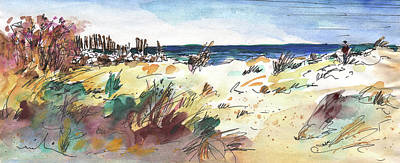 Sand Dunes Drawing - Albufera De Valencia 02 by Miki De Goodaboom