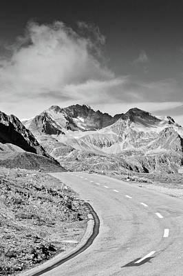 Albula Pass Road Print by daitoZen