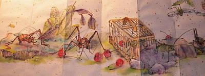 Album Of Crickets Art Print by Debbi Saccomanno Chan