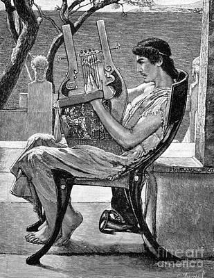 Tadema Photograph - Alcaeus (c620-c580 B.c.) by Granger